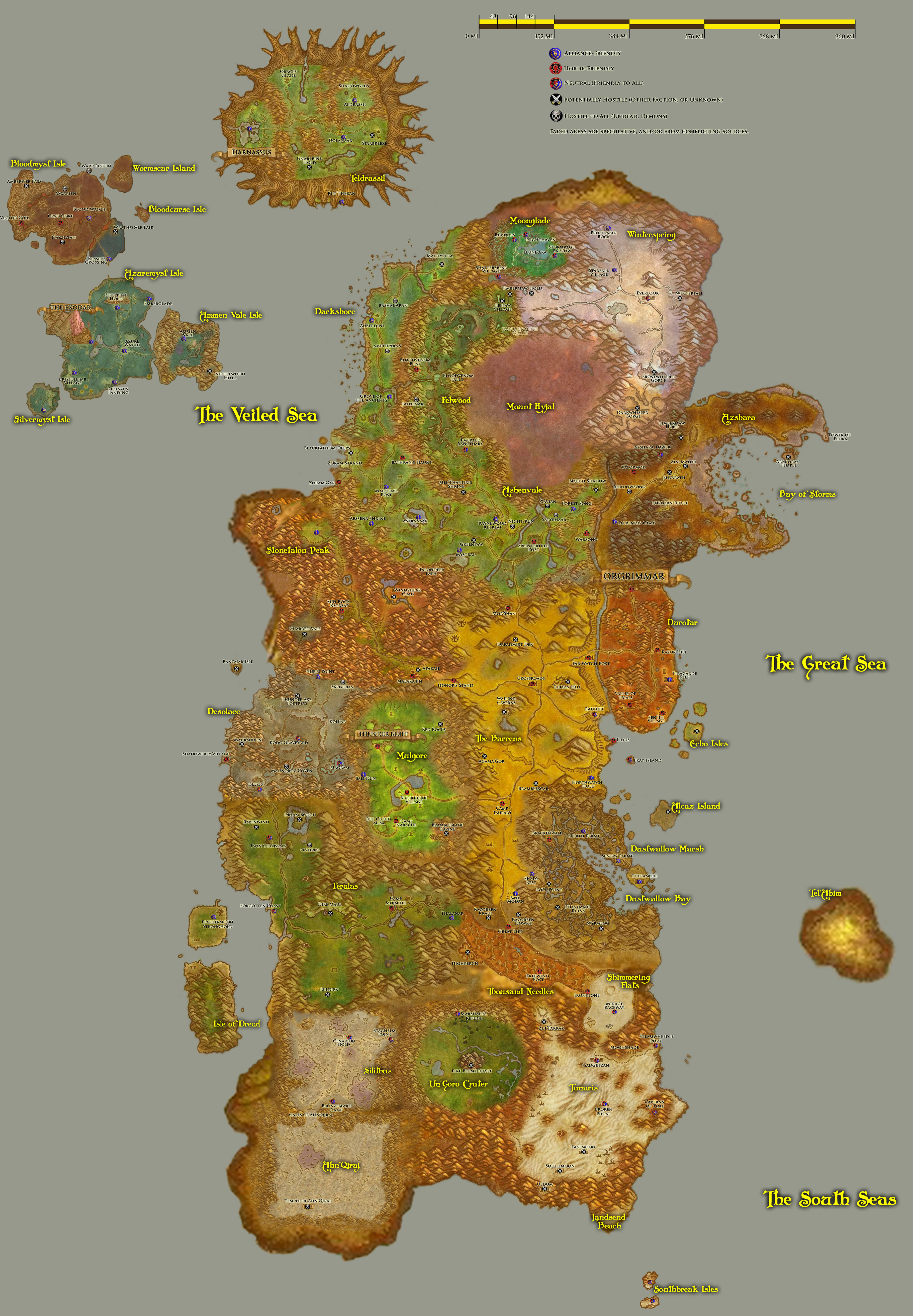 The Map Of Azeroth - The Vigil Ones